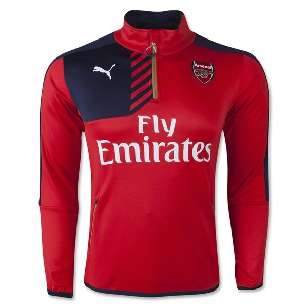 Arsenal 15/16 Home 1/4 Zip Training Top - WorldSoccerShop.com