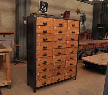 INDUSTRIALNE MEBLE I GADZETY meuble de metier à 27 tiroirs s 1920