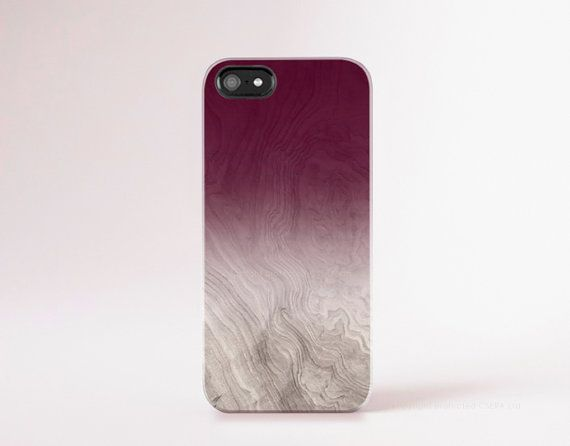 Burgundy Phone Case Wood Print iPhone 6 Case Wood by casesbycsera
