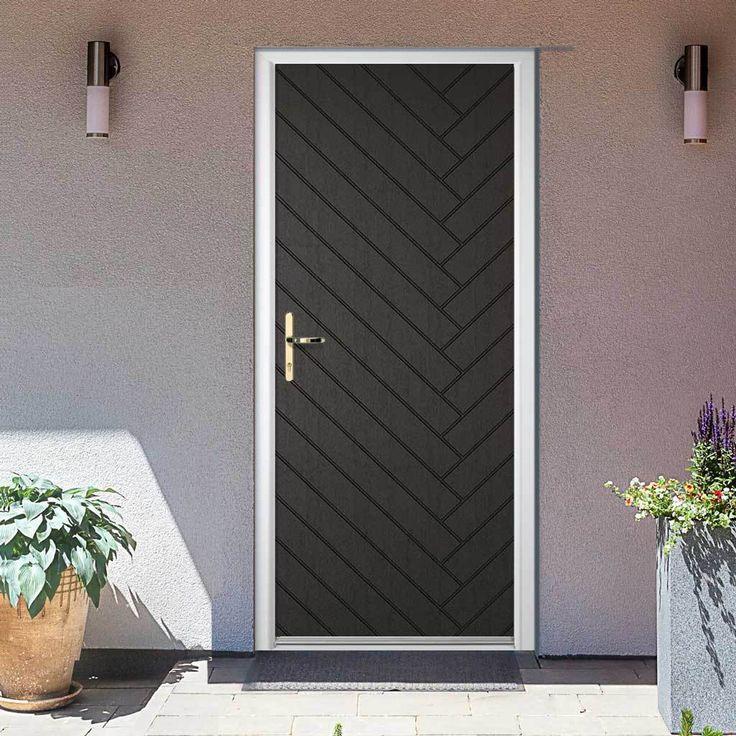 Bexhill Charcoal Grey Embossed Composite Door In 2019