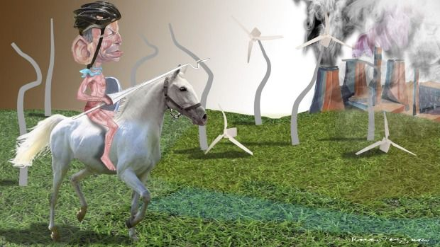 Tony Abbott Campaigns Against Wind Farms <i>(Illustration: Rocco Fazzari)</i>