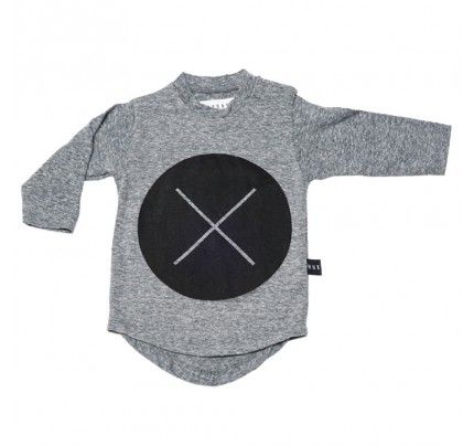 Circle Cross Long Sleeve Tee from Huxbaby's AW16 collection from Baby Dino.  www.babydino.com.au