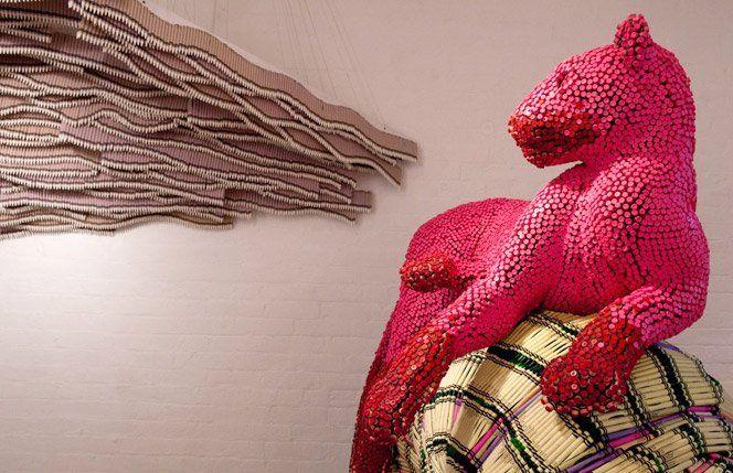 O artista Herb Williams faz esculturas sensacionais com giz de cera.Fonte