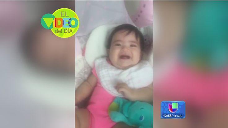 Escucha la risa contagiosa de Baby Giulietta cuando Ana le hace monerías al regresar del trabajo.