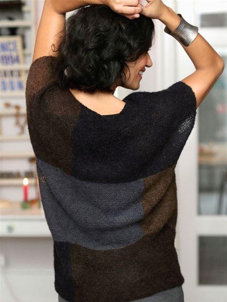 Danish knitting pattern. Strik selv: Grafisk bluse - Hendes Verden