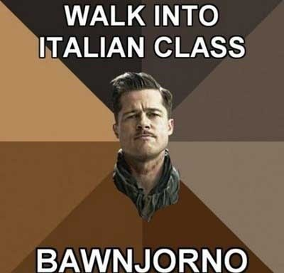 bawnjorno, ahhhh inglorious bastards with a southern accent!
