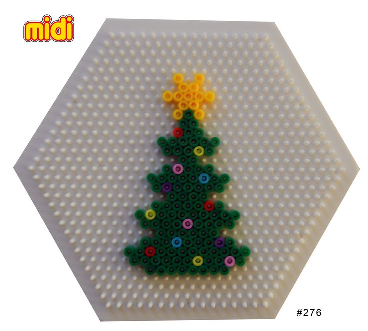 Christmas tree Hama midi perler pattern
