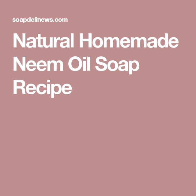 Natural Homemade Neem Oil Soap Recipe