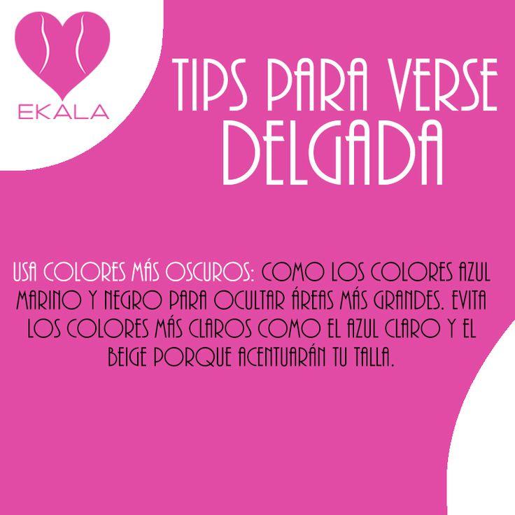 Usa colores oscuros. #modafemenina #ekala