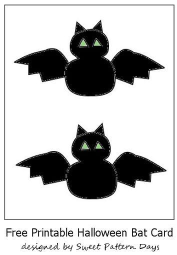 cute halloween bat card