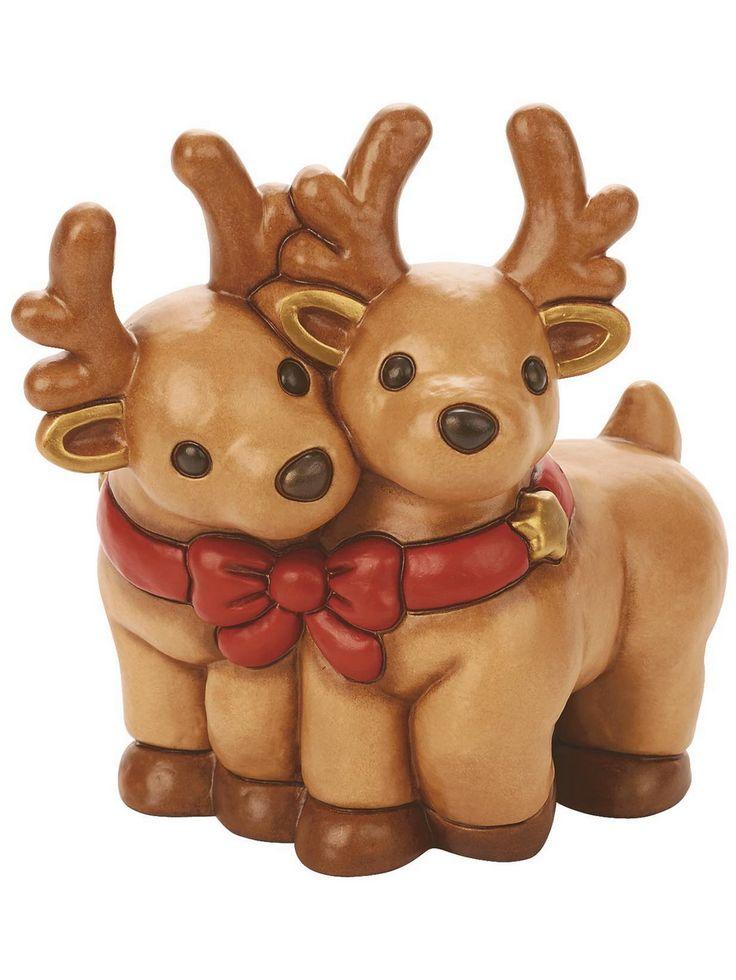 #THUN #Renne (S2237A82)  Materiale: Ceramica  Colore: Rosso  Dimensioni: cm.26,5  Novità 2015  Consigliato per: Regalo #Natale   http://www.nerisrl.it/shop/natale/thun-renne-di-natale/