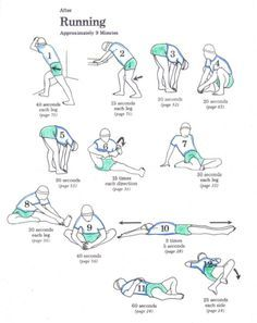 Stretch routine for after you run.  i do love to stretch.