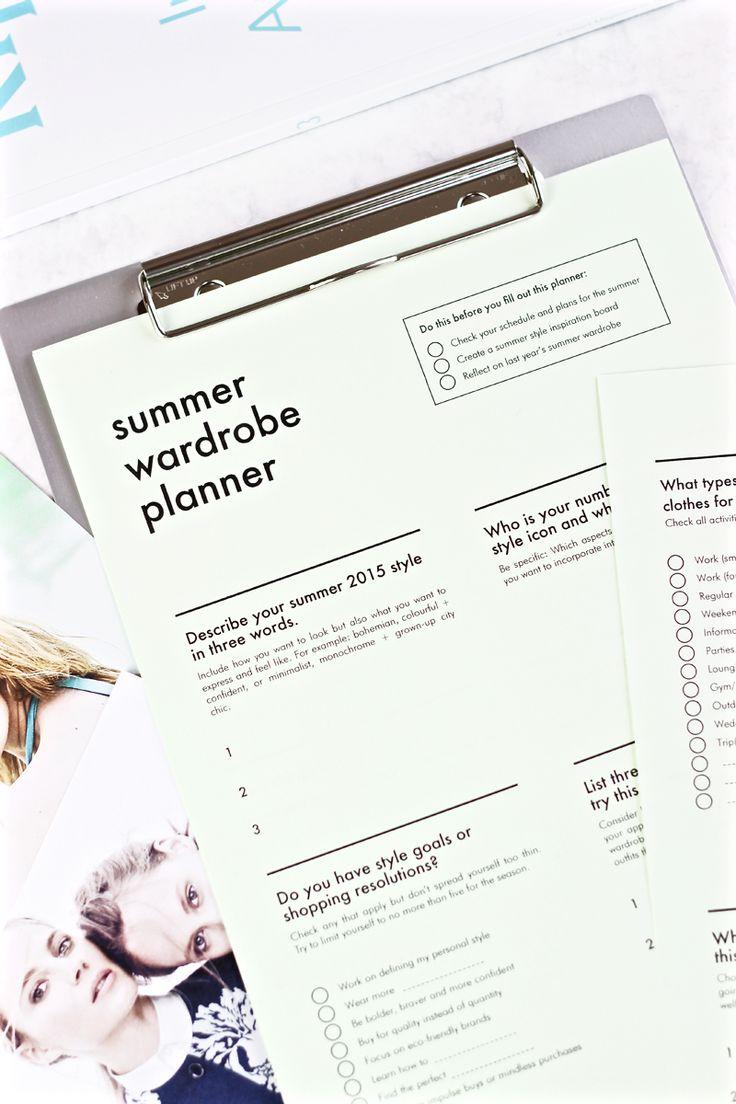 Free Summer Wardrobe Planner   INTO MIND