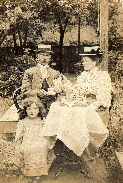 Tea time in the garden, 1890s