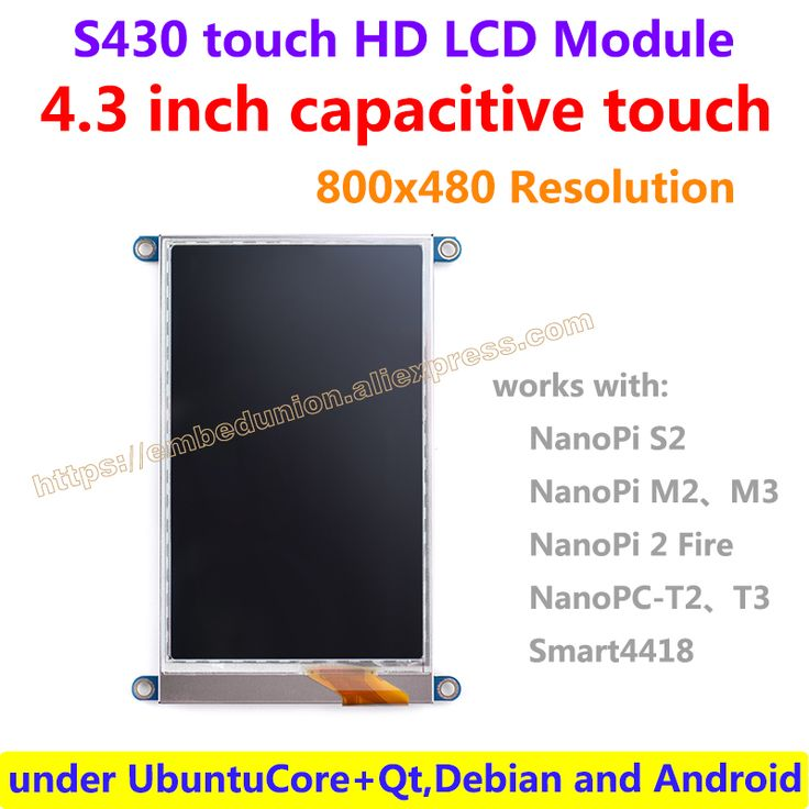 4.3 inch capacitive touch HD LCD(S430) 480 x 800 resolution works with 4418 and 6818 boards under UbuntuCore+Qt,Debian,Android //Price: $41.15 & FREE Shipping //     #hashtag3