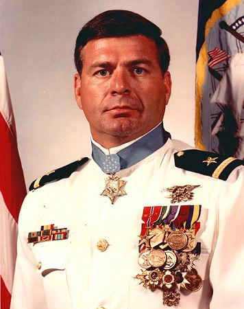 Lieutenant Michael E. Thornton;  Native American. Michael Thornton was awarded the Congressional Medal of Honor on October 15, 1973. He is the first person in more than a century to receive that honor for saving the life of another Medal of Honor recipient.