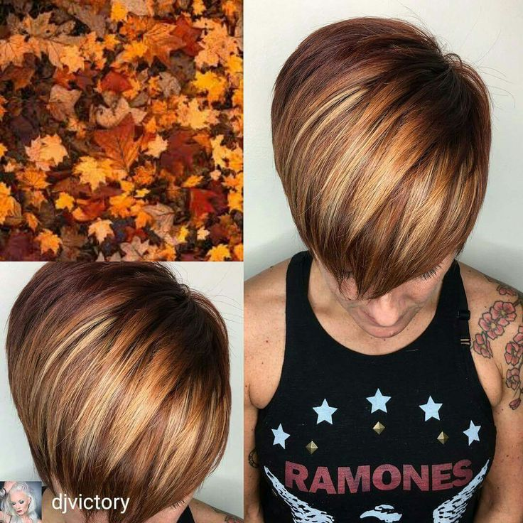 """Love this """"colors of fall"""" highlights!"""