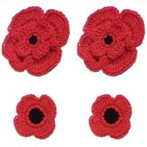 Remembrance Poppies: Free Crochet Pattern
