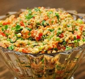 """Quinoa Tabouli: """"This was fast and amazing! I haven't even let it sit in the fridge yet, and I've already devoured a huge serving! Absolutely delicious, super easy, healthy and 5 stars all the way!"""" -Chef No. 1524572"""