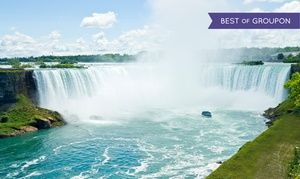 Groupon - Stay with Family or Couples Package at Quality Inn & Suites Niagara Falls in Ontario. Dates into May. in Niagara Falls, ON. Groupon deal price: $39