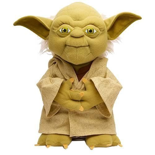 """Star Wars Talking Yoda Plush. 12"""" talking Yoda plush. Watch his mouth move as he amuses you with his words."""