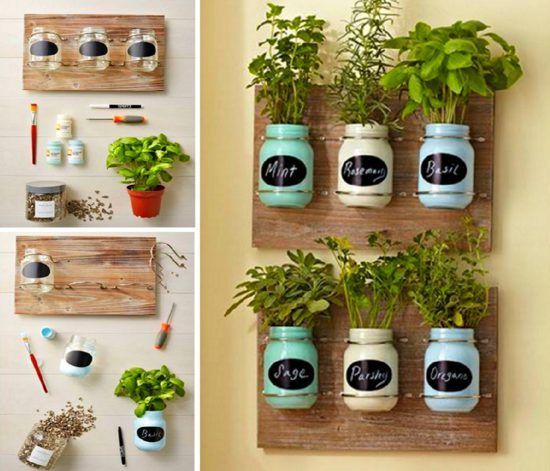 Indoor Herb Gardens DIY Mason Jar Indoor Herb Garden | Hometalk ...