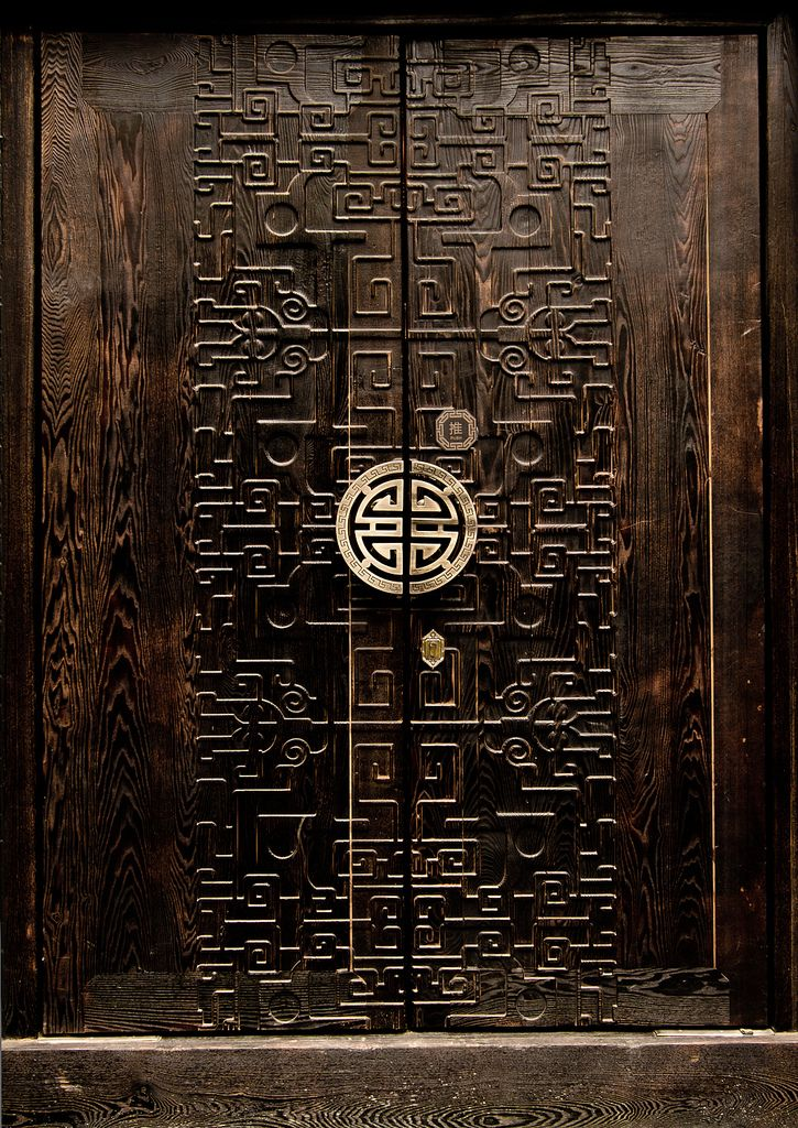 Door details | Wood carving | Ornate door. Kuan Zhai Xiang Zi, Chengdu, China | ©Jeren ~ Omaikane, via flickr