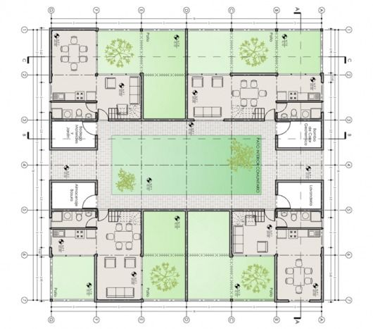 Primer Lugar Concurso de Arquitectura y Eficiencia Energética en Vivienda Social MINVU/ Casapatio