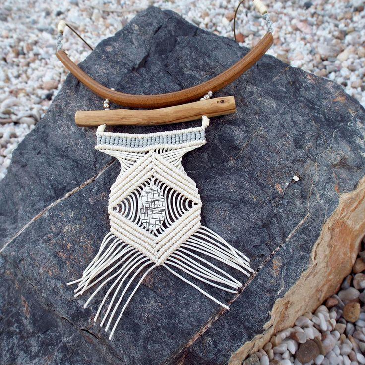 Boho Wedding Necklace Unique Pendant Ocean Necklace Ethical