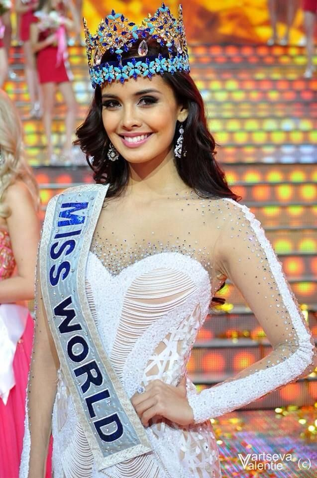 Megan Young during Miss Russia 2014 finals