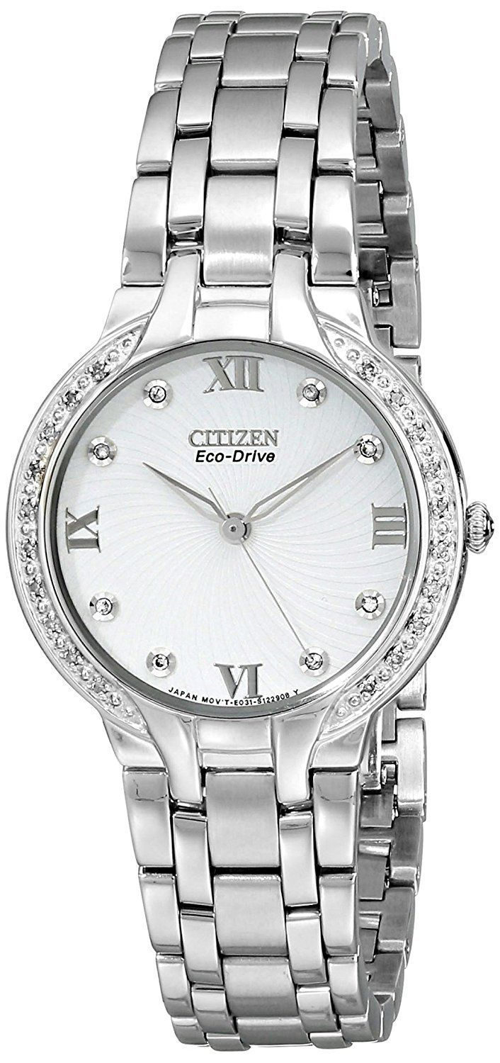 Citizen Women S Em0120 58a Bella Stainless Steel And Diamond Eco Drive Watch For More Information Visit Image Link Relojes Femeninos Relojes Mujer Reloj