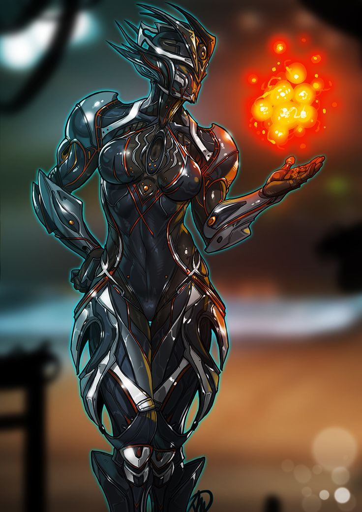 "Are you familiar with Warframe? It seems to be one of the most update and fair ""freemium"" action game out there. Anyway, enjoy this Ember commission!"