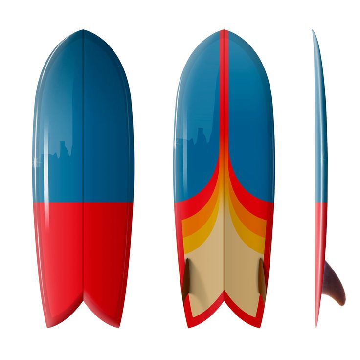 "5'6 Driftwood Caravan Surfboards ""SHIM FISH"" twin keel with airbrush design by…"