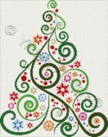 Abstract Christmas tree No2 cross stitch | Yiotas XStitch. #christmastree #cross_stitch