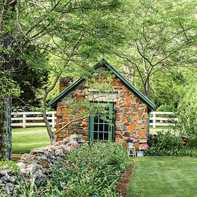 Southern Garden Design this small yard has ferns planters and plants instead of grass the winding brick sidewalk makes a nice path this wilmington nc home is charming The Stone Garden Shed All Green Garden Design