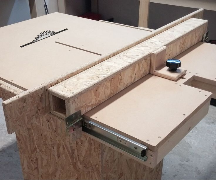Homemade Table Saw Fence Mechanism Woodworking Table
