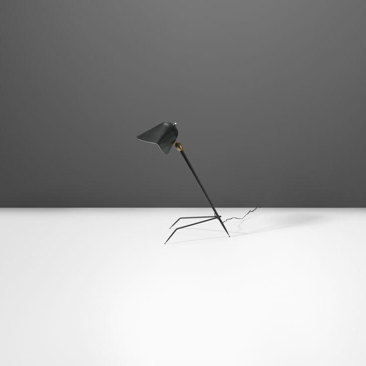 122: Serge Mouille / Trépied table lamp < Recherché, 18 November 2014 < Auctions   Wright