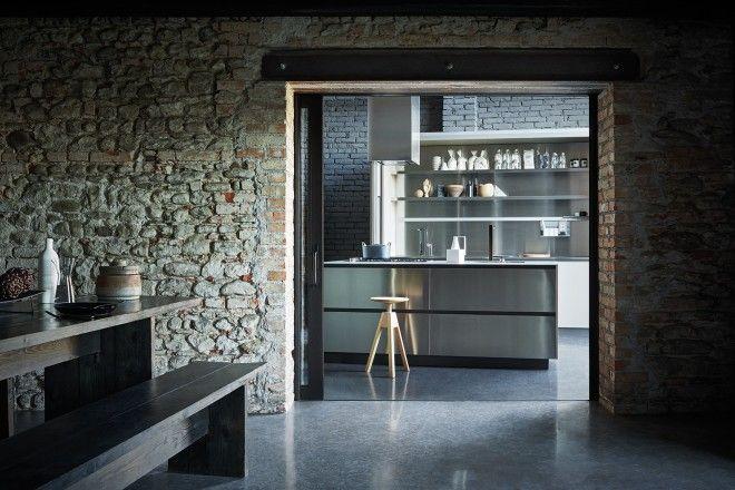 Maxima 2.2 - Stainless steel mud Fenix  #Cesarkitchen #interiordesign #kitchen