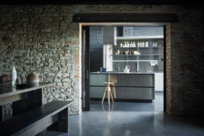 Maxima 2.2 - Stainless steel mud Fenix  #Cesarkitchen #interiordesign #kitchen