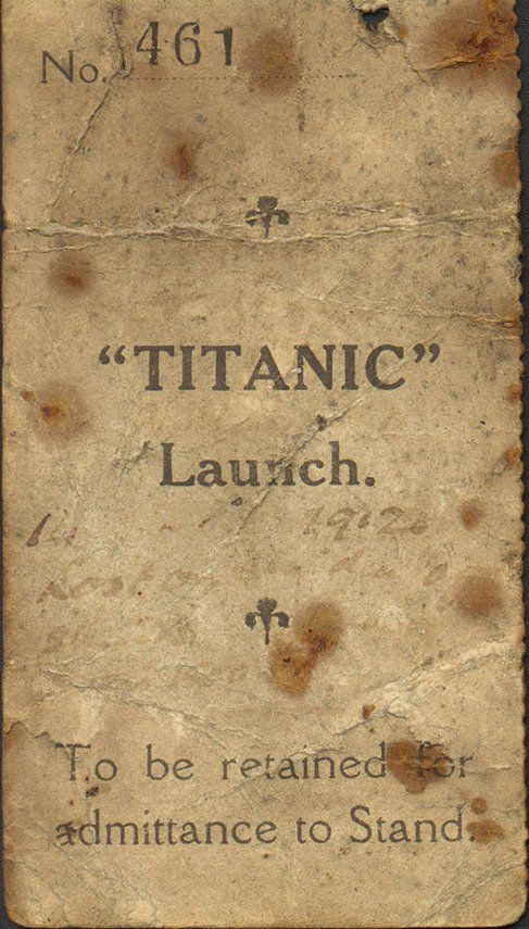 Titanic Ticket - Click to enlarge