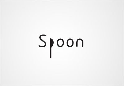 Clever spoon typography