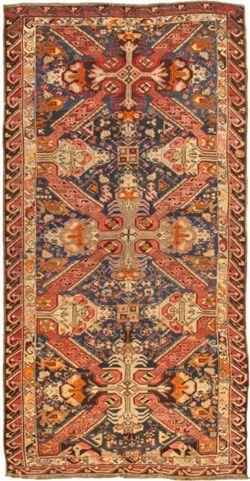"""Antique Kazak – 39400 - Pasargad Carpets Sizes: 5'9"""" x 11'5"""""""