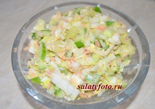 Рецепт легкого салата с тунцом и пекинской капустой на скорую руку, пошаговые фото