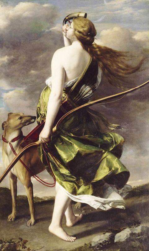 Orazio Gentileschi. Diana the Huntress, 17th Century.