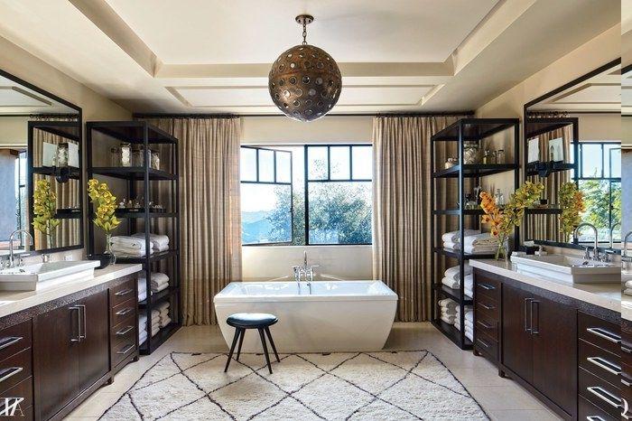 industriale Badeinrichtung metaller Kronleuchter mit runder Form - kronleuchter für badezimmer