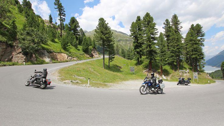 Traumhafte Motorradregion rund um Nauders am Reschenpass