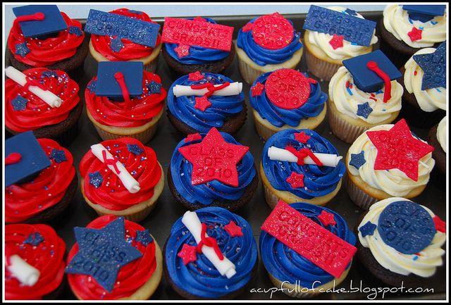 Graduation Cupcakes by Acupfullofcake, via Flickr