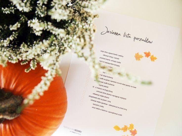 Jesienna lista porządków