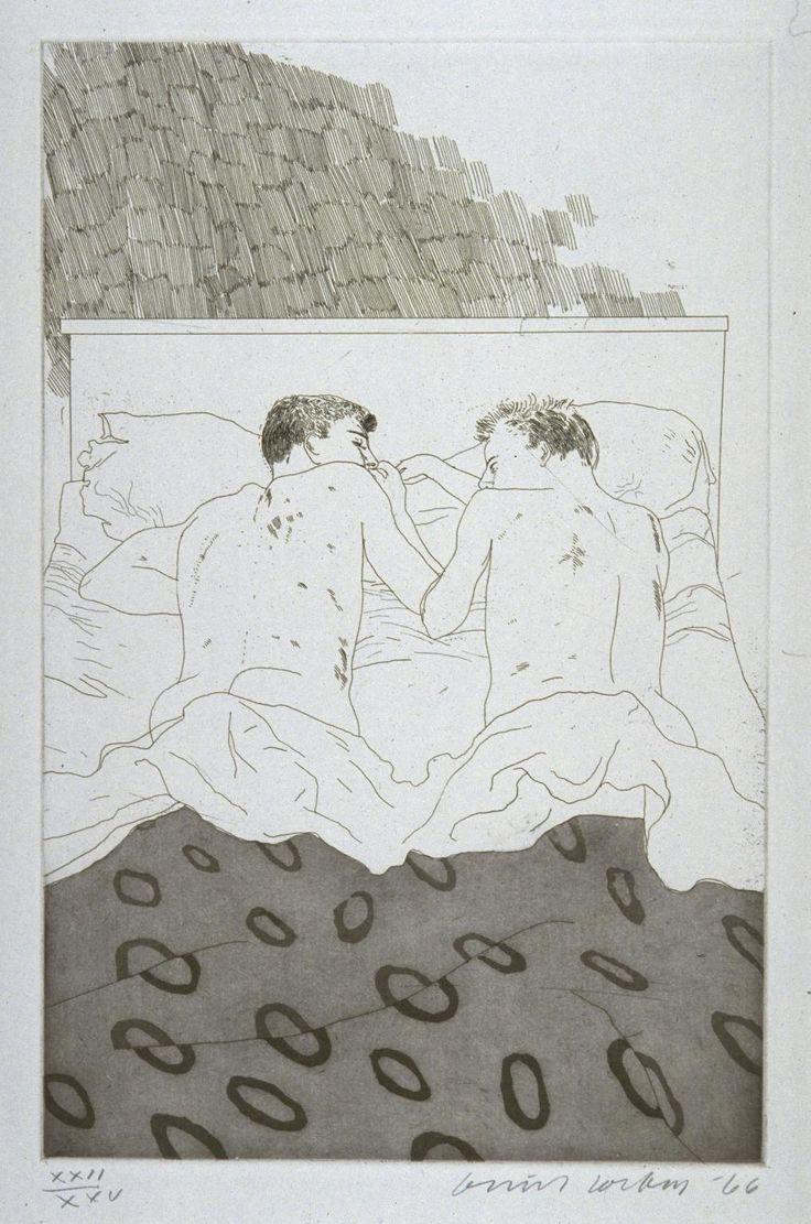 David Hockney 'Two Boys Aged 23 or 24', 1966 © David Hockney
