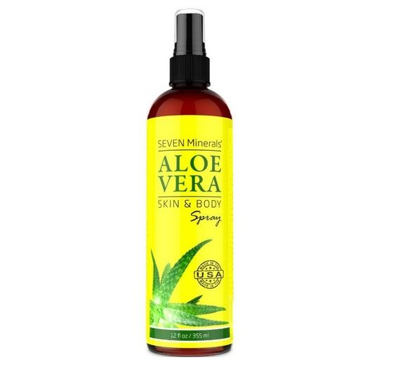 Aloe Vera SPRAY For Face, Skin and Hair 99% ORGANIC Made In USA 12 Oz Cosmetic  #SevenMinerals